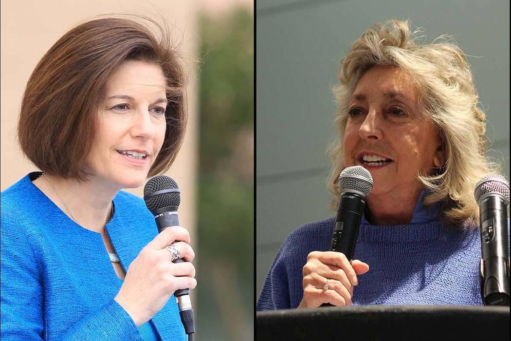 U.S. Sen. Catherine Cortez Masto, D-Nev. and U.S. Rep. Dina Titus, D-Nev. (Las Vegas Review-Journal)
