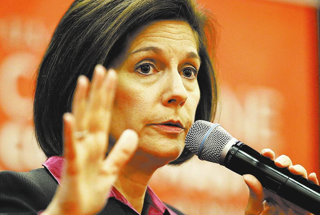 Sen. Catherine Cortez Masto, D-Nev. AP Photo/John Locher
