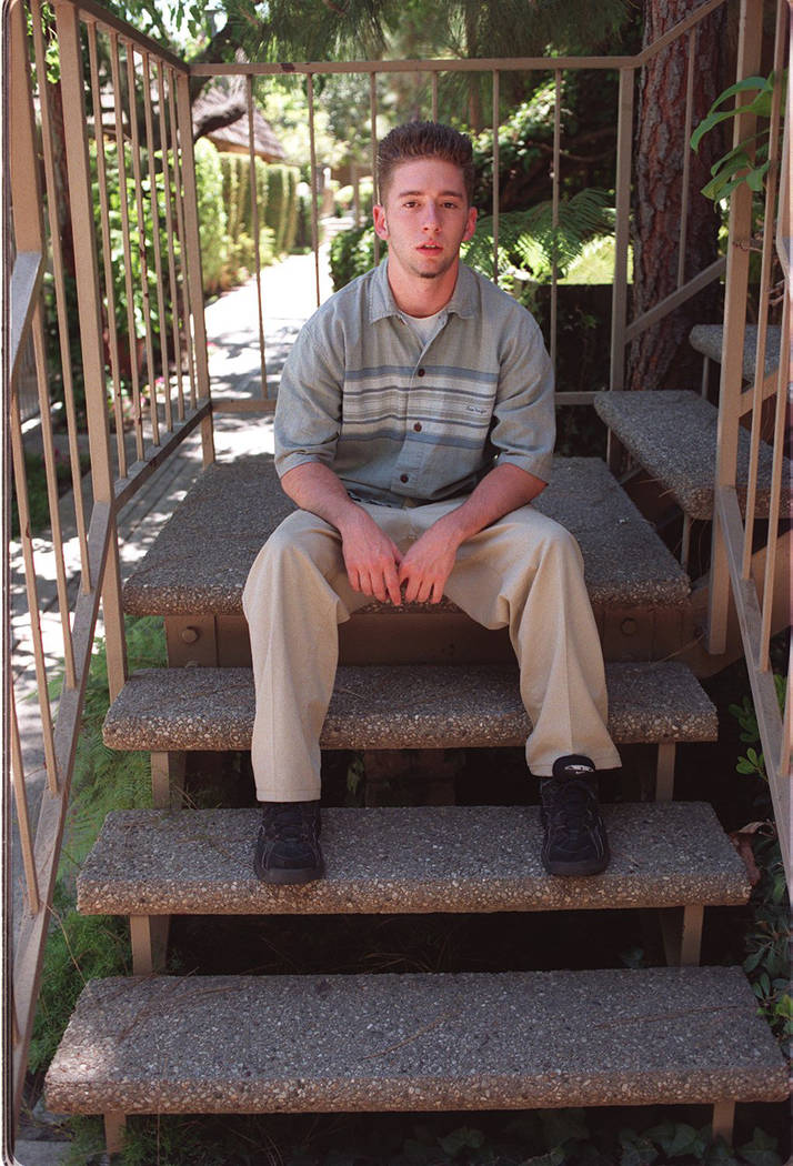 Eighteen-year-old David Cash of La Palma, California, at his home May 29, 1997. Cash was with his best friend, Jeremy Strohmeyer, at the Primadonna Resort in Primm when Strohmeyer sexually assault ...
