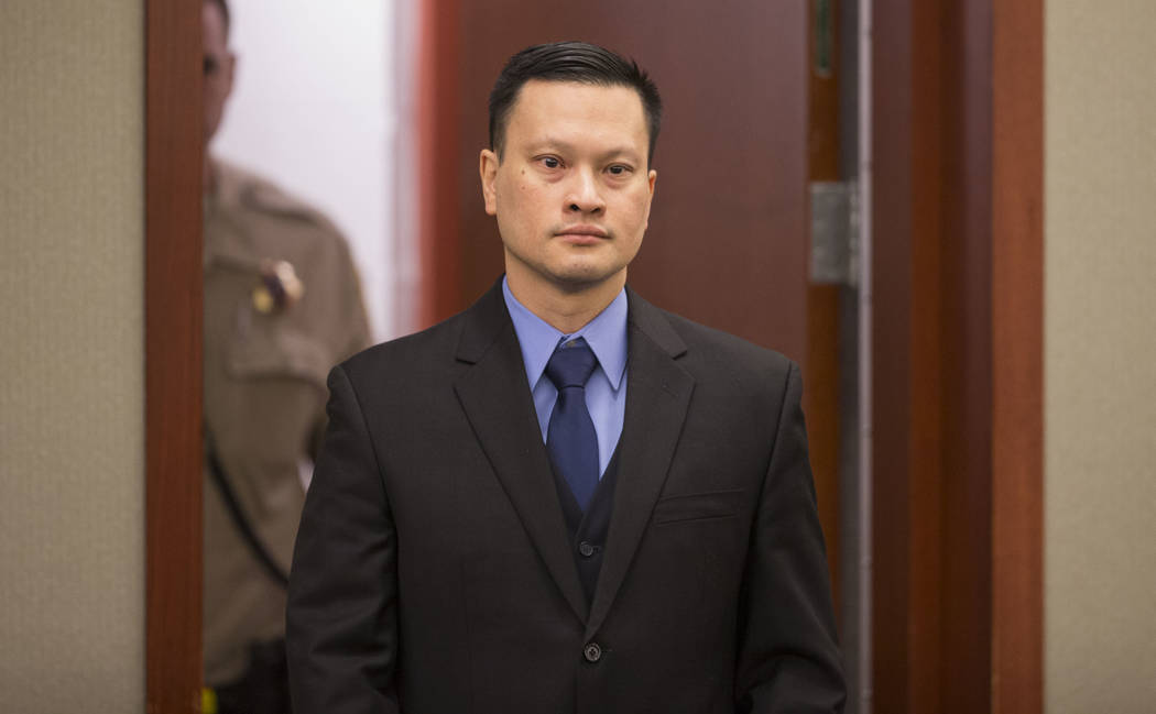 Dr. Binh Minh Chung enters the courtroom before hearing closing arguments in his trial at the Regional Justice Center in Las Vegas on Friday, May 19, 2017. Richard Brian Las Vegas Review-Journal @ ...