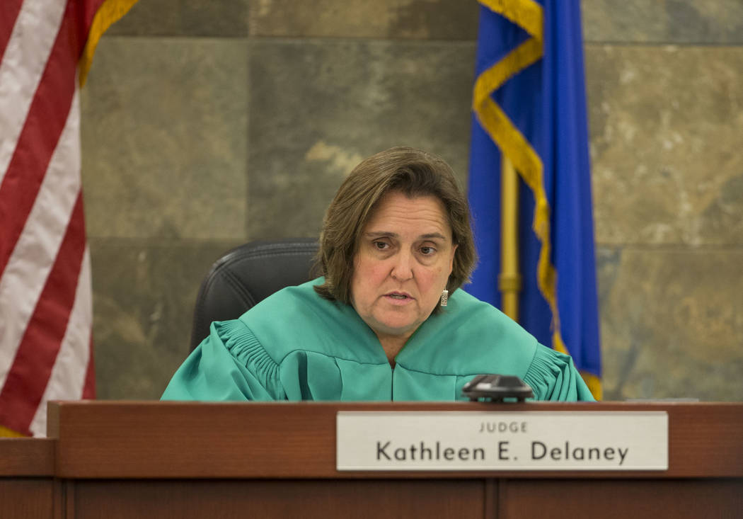 District Judge Kathleen Delaney presides over the trial of Dr. Binh Minh Chung at the Regional Justice Center in Las Vegas on Friday, May 19, 2017. Richard Brian Las Vegas Review-Journal @vegaspho ...