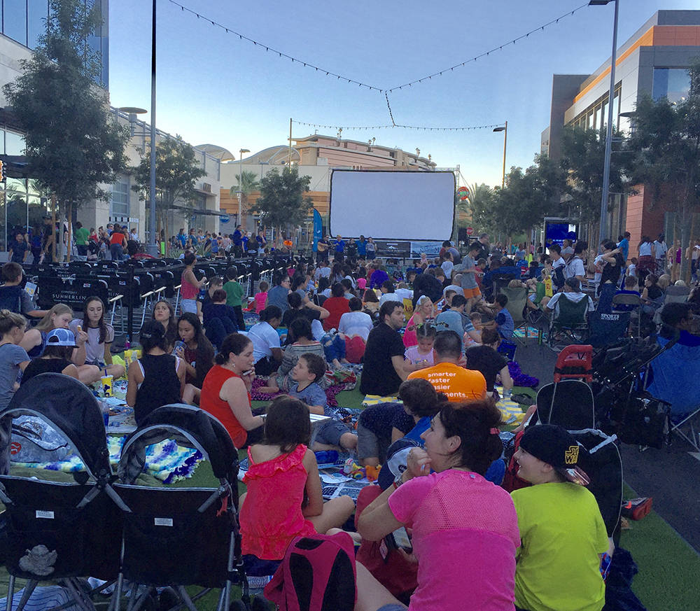 Downtown Summerlin's Summer Screen Series is one of several family activities planned this summer at the retail destination in the heart of the Summerlin master-planned community. The Summer Scr ...