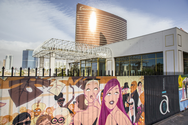 The Alon project site on the Strip at Fashion Show Drive and Las Vegas Boulevard on Friday, Dec. 16, 2016, in Las Vegas. Benjamin Hager/Las Vegas Review-Journal