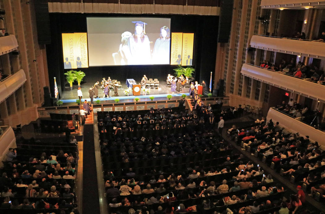 The graduation ceremony for Western Governors University Nevada at the Smiths Center for the Performing Arts, Saturday, May 20, 2017. Gabriella Benavidez Las Vegas Review-Journal @latina_ish