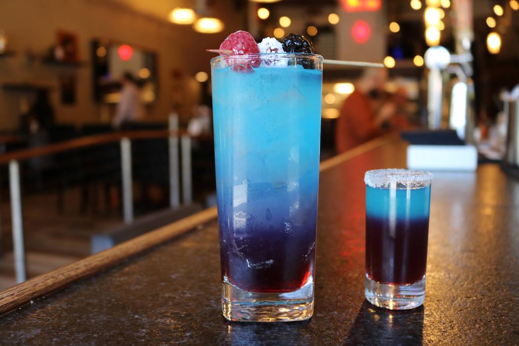 Star Spangled Lemonade cocktail and Star Spangled Lemonade shot. Janna Karel Las Vegas Review-Journal