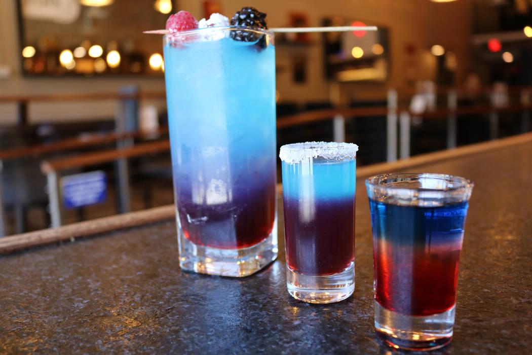 Star Spangled Lemonade cocktail and Rocket Shot. Janna Karel Las Vegas Review-Journal