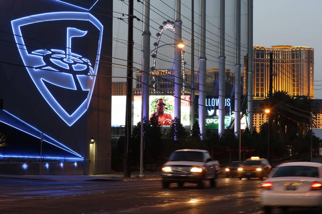 Topgolf at MGM Grand hotel-casino in Las Vegas, Tuesday, April 11, 2017. David Guzman Las Vegas Review-Journal @DavidGuzman1985