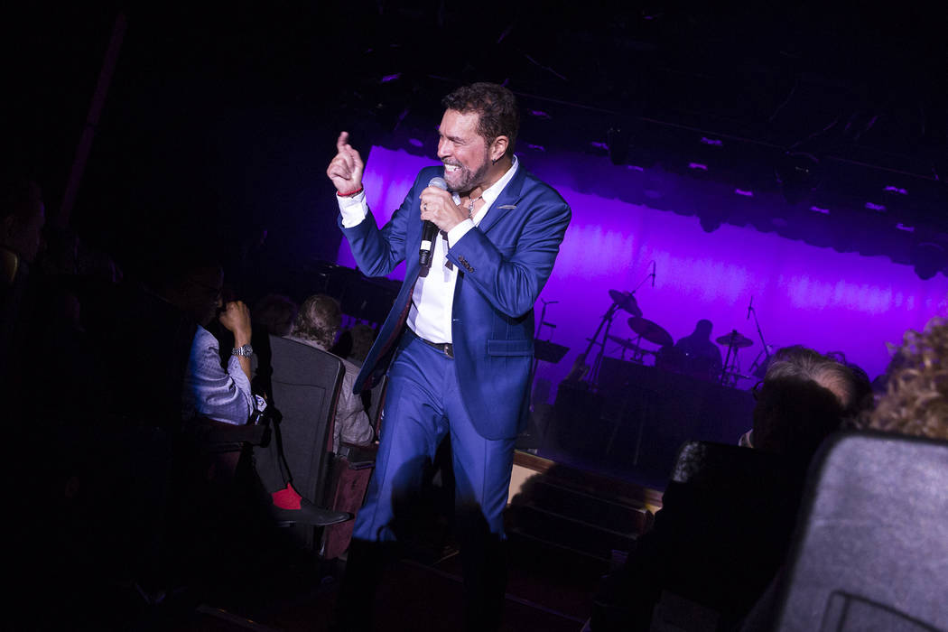 Clint Holmes steps off the stage and up the center aisle during opening night of his return to the Golden Nugget. (Golden Nugget)