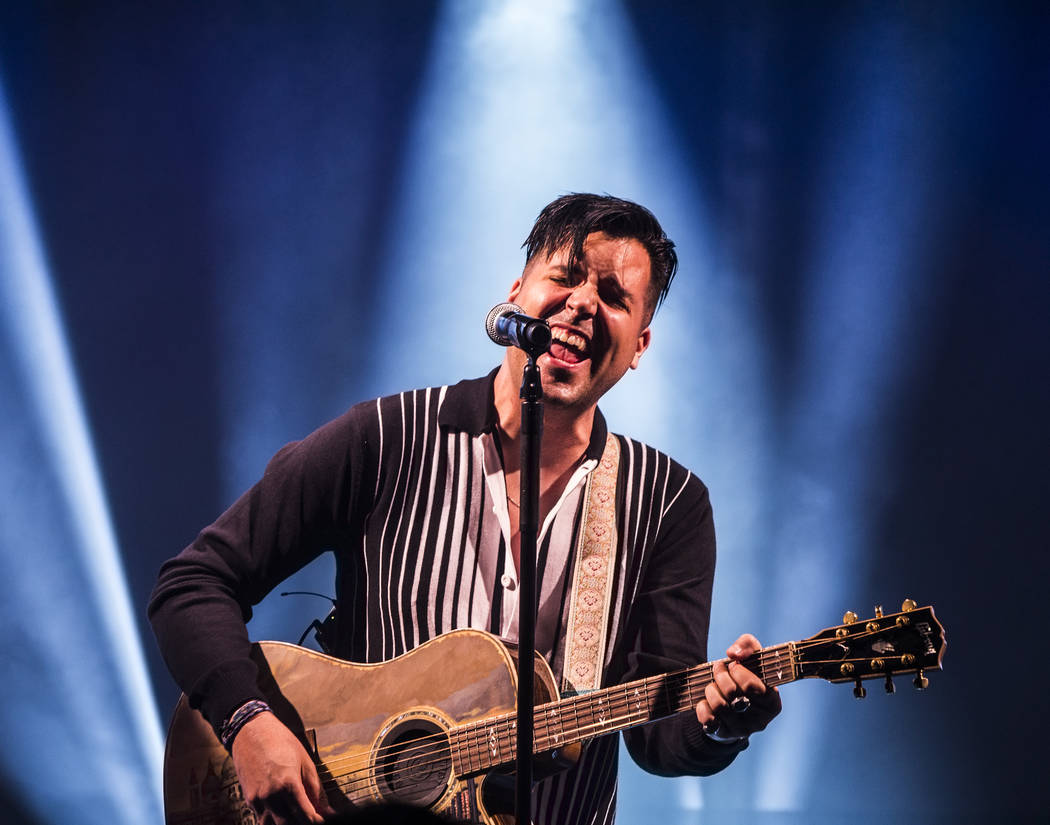 Singer and piano showman Frankie Moreno wows the crowd at The Showroom at the Golden Nugget on Saturday, May 20, 2017, in Las Vegas. Benjamin Hager Las Vegas Review-Journal @benjaminhphoto