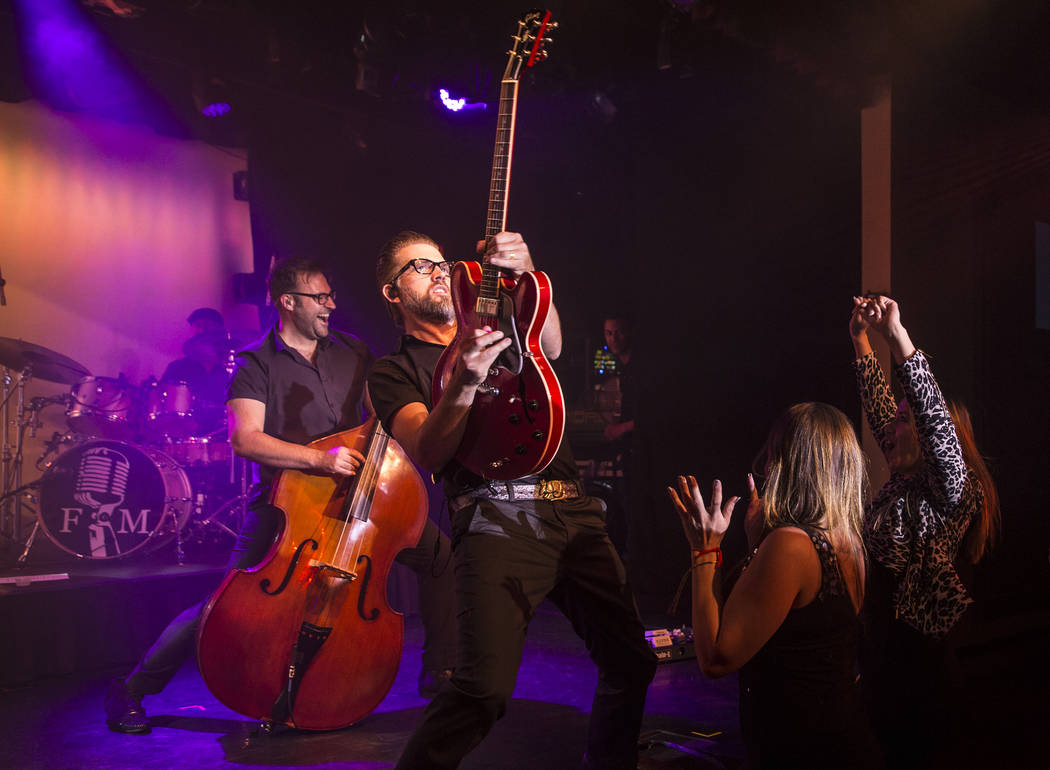 Frankie Moreno's band performs at The Showroom at the Golden Nugget on Saturday, May 20, 2017, in Las Vegas. Benjamin Hager Las Vegas Review-Journal @benjaminhphoto