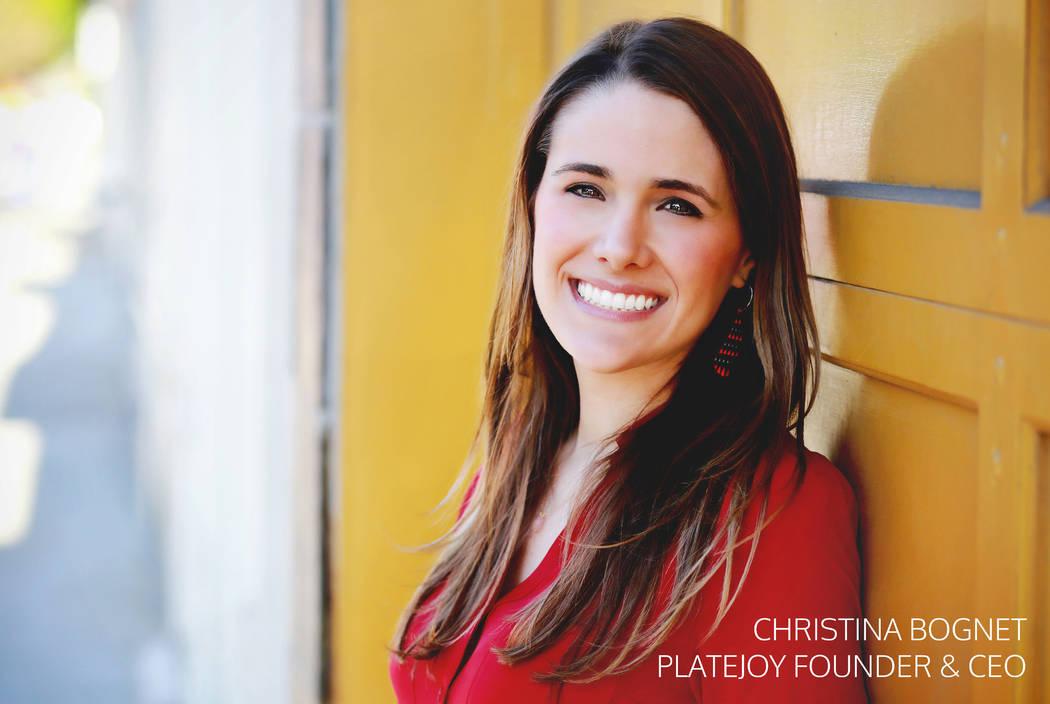 PlateJoy founder and CEO Christina Bognet. PlateJoy