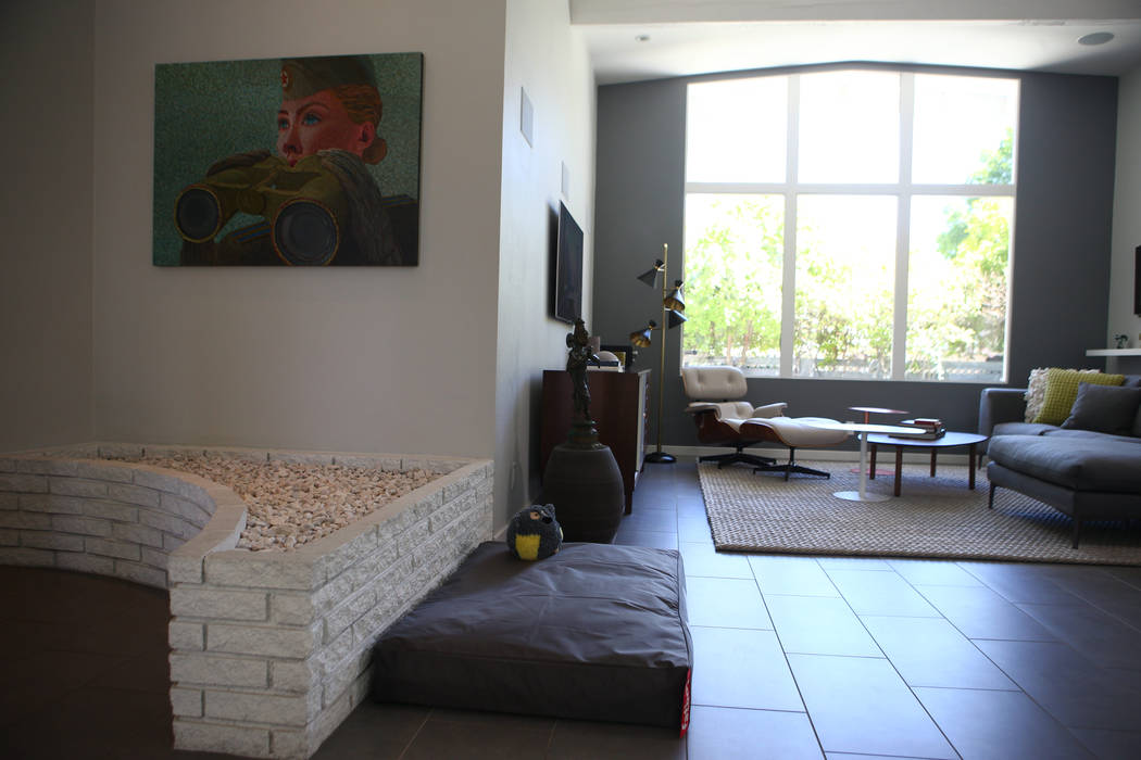 A contemporary ranch home at 125 Stonewood Court in Las Vegas on April 30, 2017. Miranda Alam Las Vegas Review-Journal