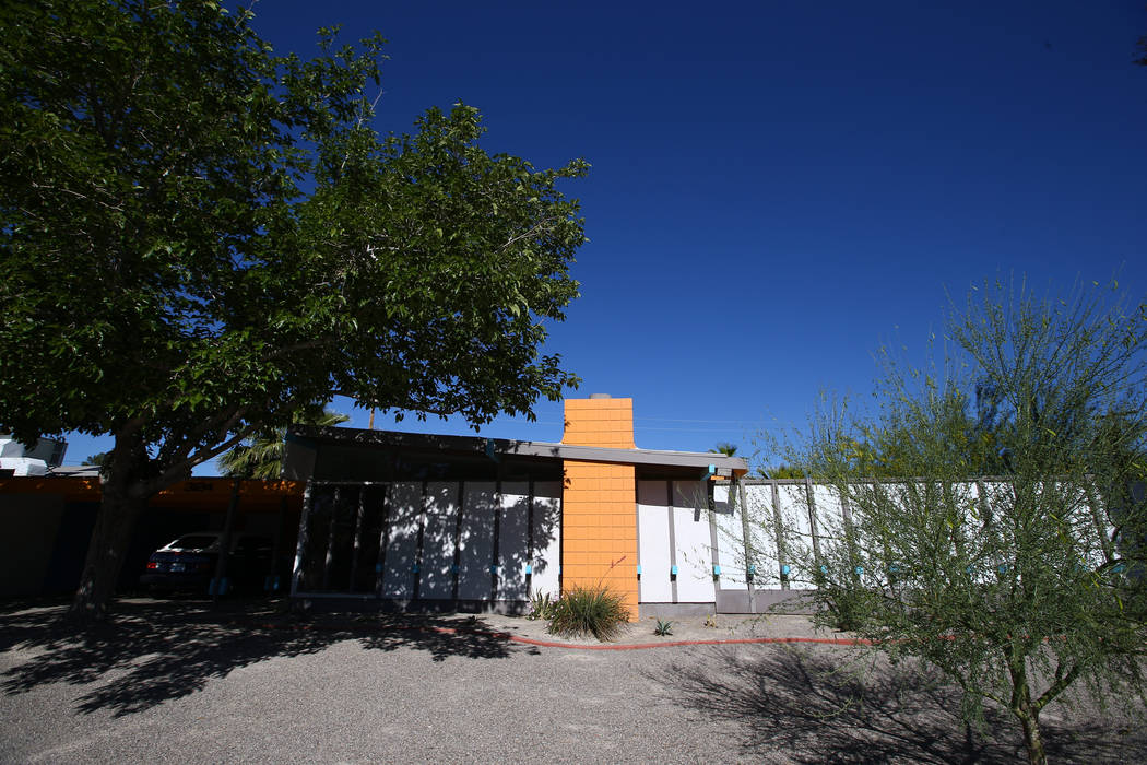A desert modern/contemporary ranch home at 3124 Burnham Ave. in Las Vegas on April 30, 2017, build in 1962. Miranda Alam Las Vegas Review-Journal