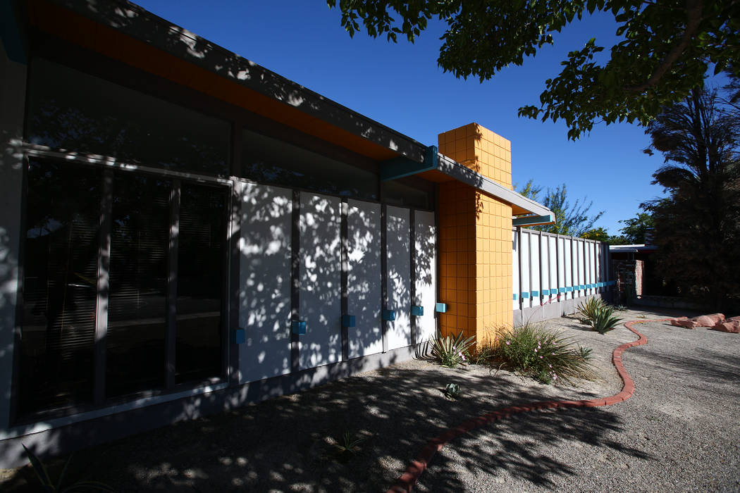 A desert modern/contemporary ranch home at 3124 Burnham Ave. in Las Vegas on April 30, 2017, build in 1962. Miranda Alam Las Vegas Review-Journal