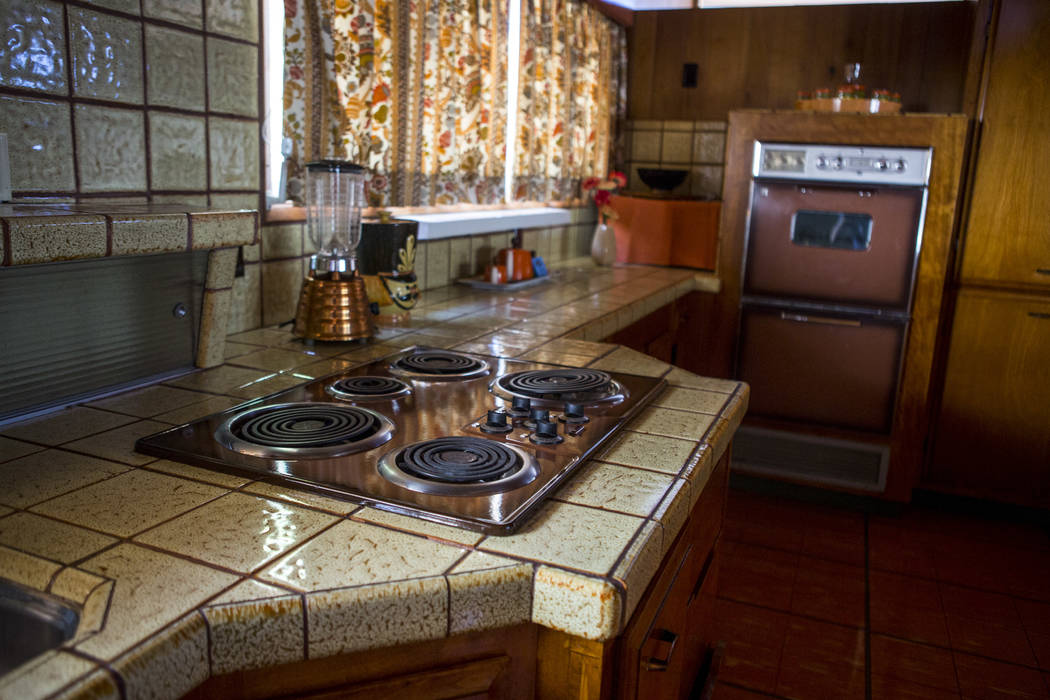 The kitchen of the Morelli House in downtown Las Vegas, home to the Junior League of Las Vegas, represents a contemporary Desert Modern style and was photographed on Monday, May 22, 2017. Patrick  ...