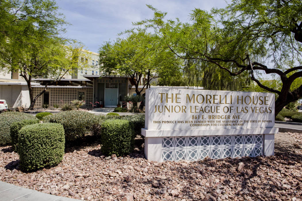 The Morelli House in downtown Las Vegas, home to the Junior League of Las Vegas, represents a contemporary Desert Modern style and was photographed on Monday, May 22, 2017. Patrick Connolly Las Ve ...