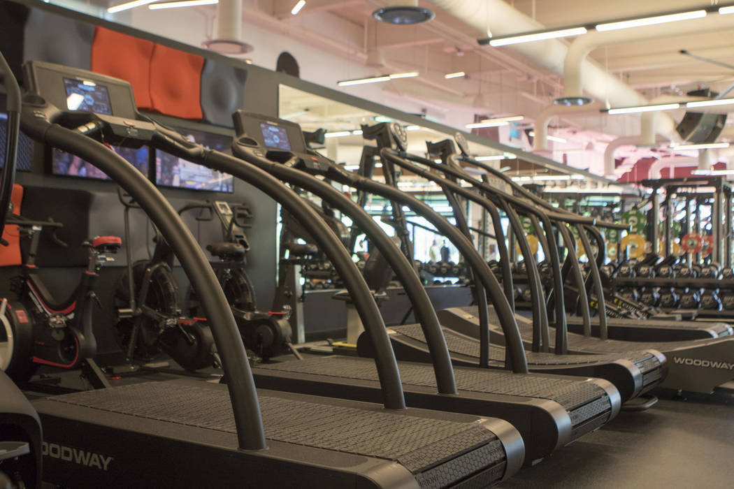 The treadmills in the workout room of the UFC Performance Institute in Las Vegas on Friday, May 19, 2017. Heidi Fang/Las Vegas Review-Journal @HeidiFang
