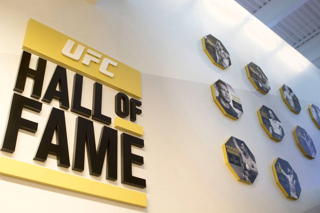 The UFC Performance Institute in Las Vegas with their Hall of Fame fighters photos on display in a stairwell on Friday, May 19, 2017. Heidi Fang/Las Vegas Review-Journal @HeidiFang
