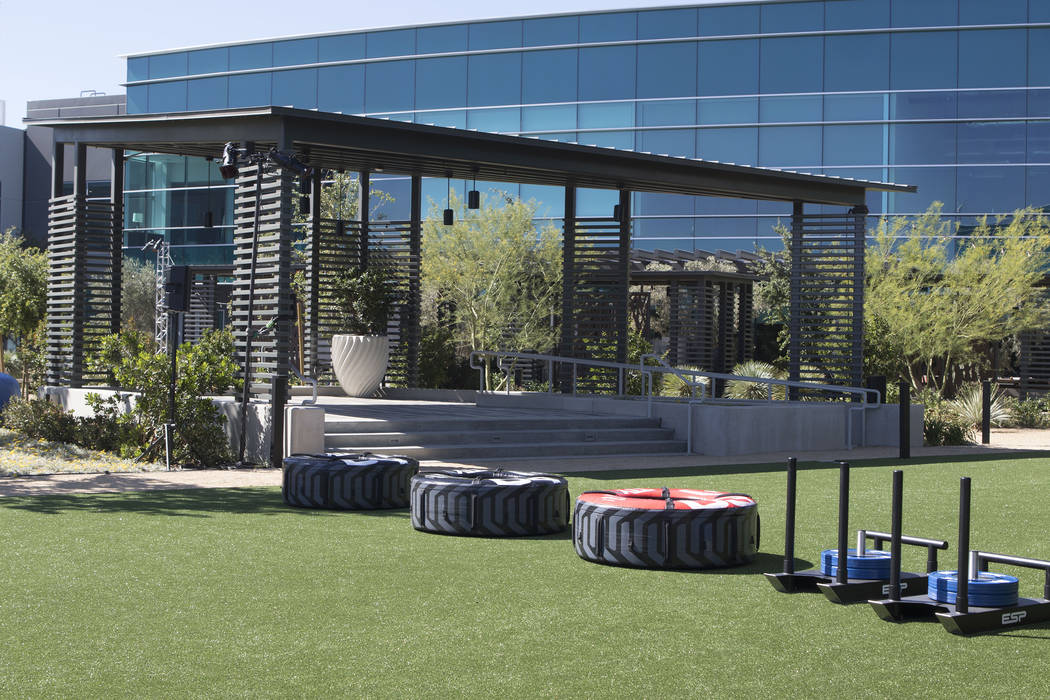 An outdoor workout area of the UFC Performance Institute in Las Vegas on Friday, May 19, 2017. Heidi Fang/Las Vegas Review-Journal @HeidiFang