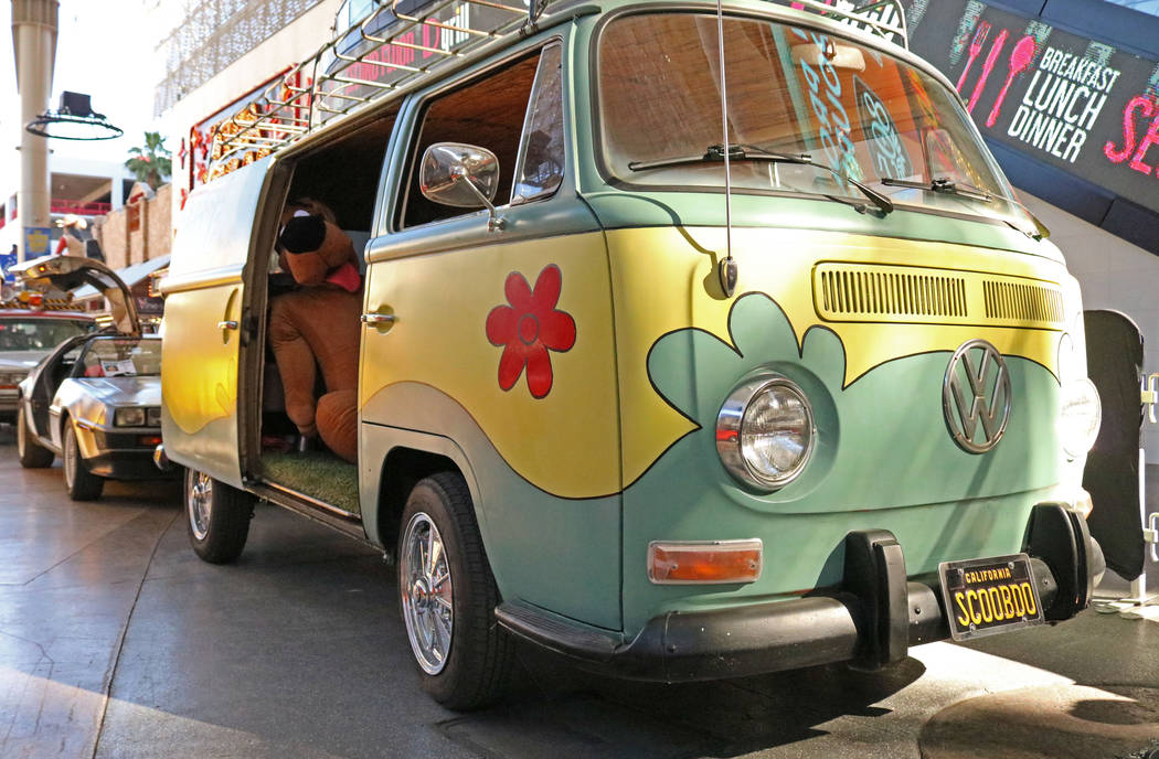 """The Mystery Machine from the """"Scooby-Doo"""" franchise on display at CarStars at the Fremont Street Experience, Friday, May 19, 2017. Gabriella Benavidez Las Vegas Review-Journal @l ..."""