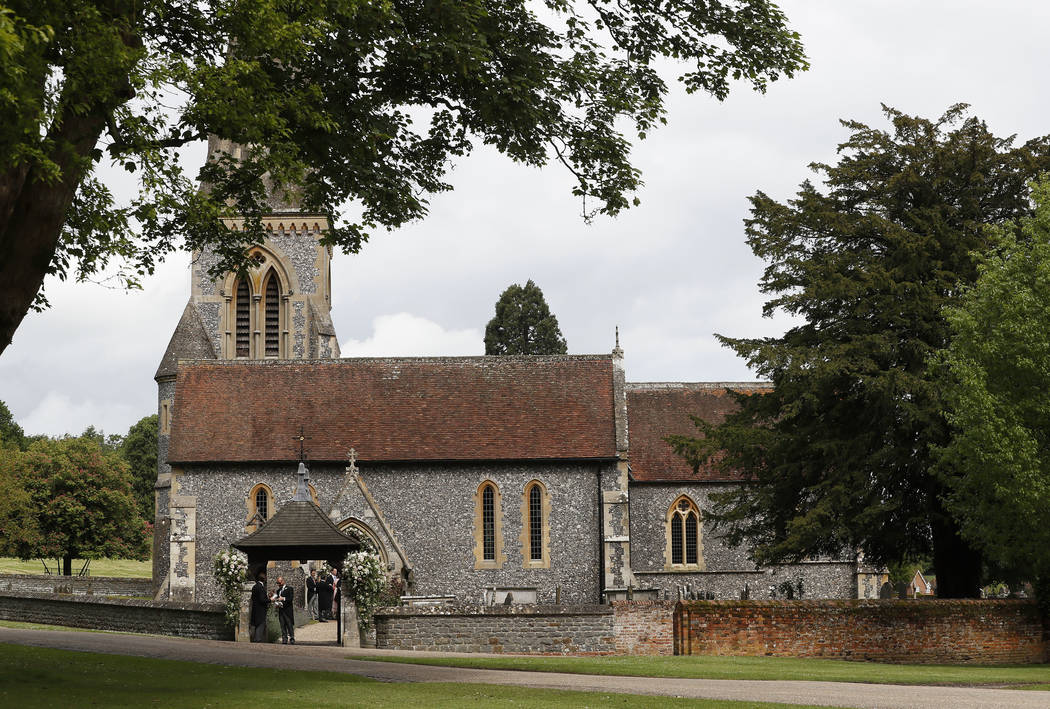 A view of St Mark's Church in Englefield, England ahead of the wedding of Pippa Middleton and James Matthews Saturday, May 20, 2017. Middleton, the sister of Kate, Duchess of Cambridge is to marry ...