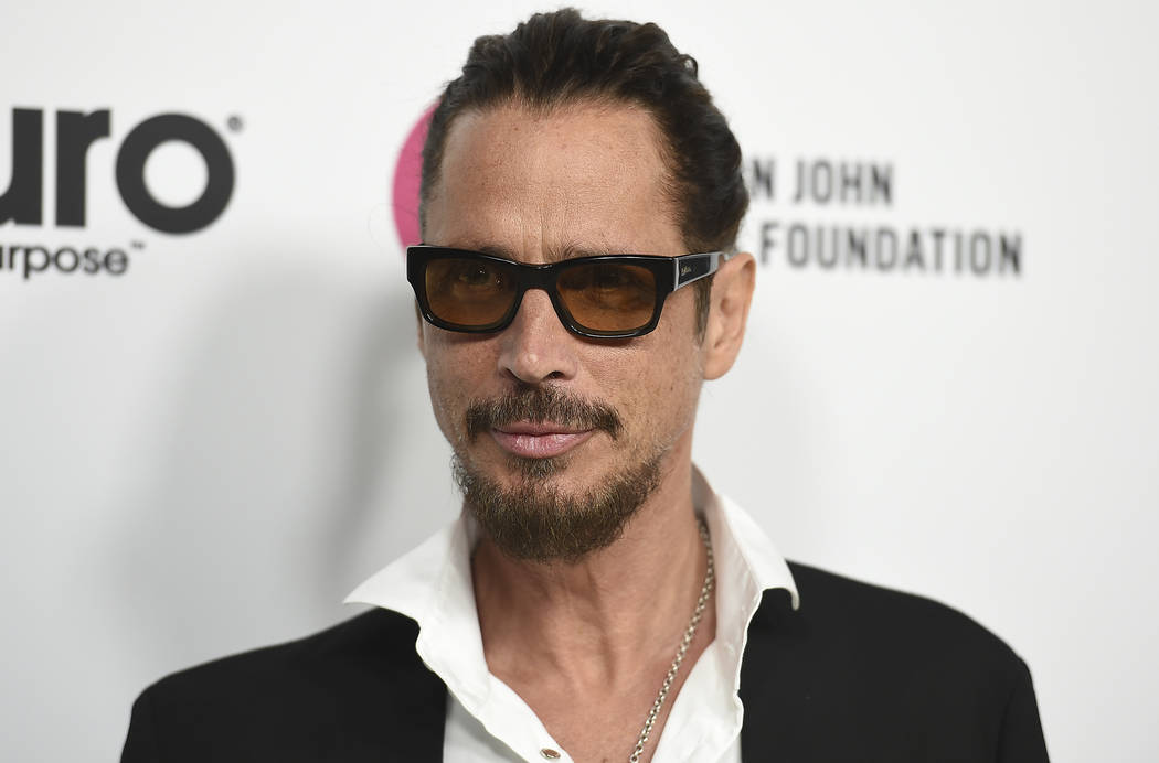 Chris Cornell arrives at Elton John's 70th Birthday and 50-Year Songwriting Partnership with Bernie Taupin on March 25, 2017, in Los Angeles. ( Jordan Strauss/File, Invision/AP)