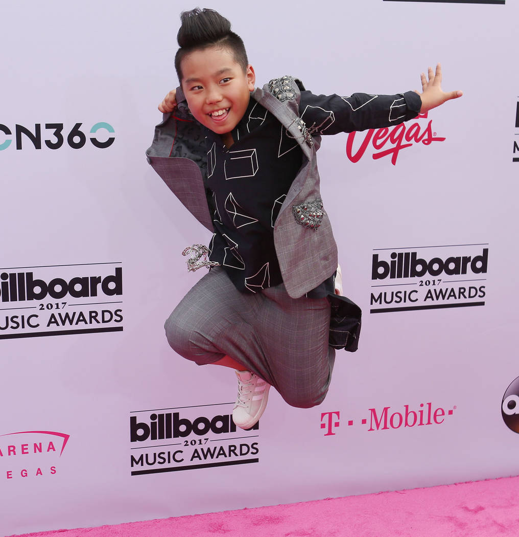 Aidan Prince during the 2017 Billboard Music Awards at T-Mobile Arena in Las Vegas Sunday May, 21, 2017. Elizabeth Brumley Las Vegas Review-Journal @EliPagePhoto