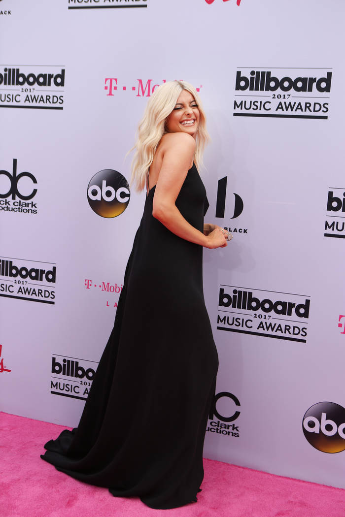 BeBe Rexha during the Billboard Music Awards at T-Mobile Arena in Las Vegas Sunday May, 21, 2017. Elizabeth Brumley Las Vegas Review-Journal @EliPagePhoto