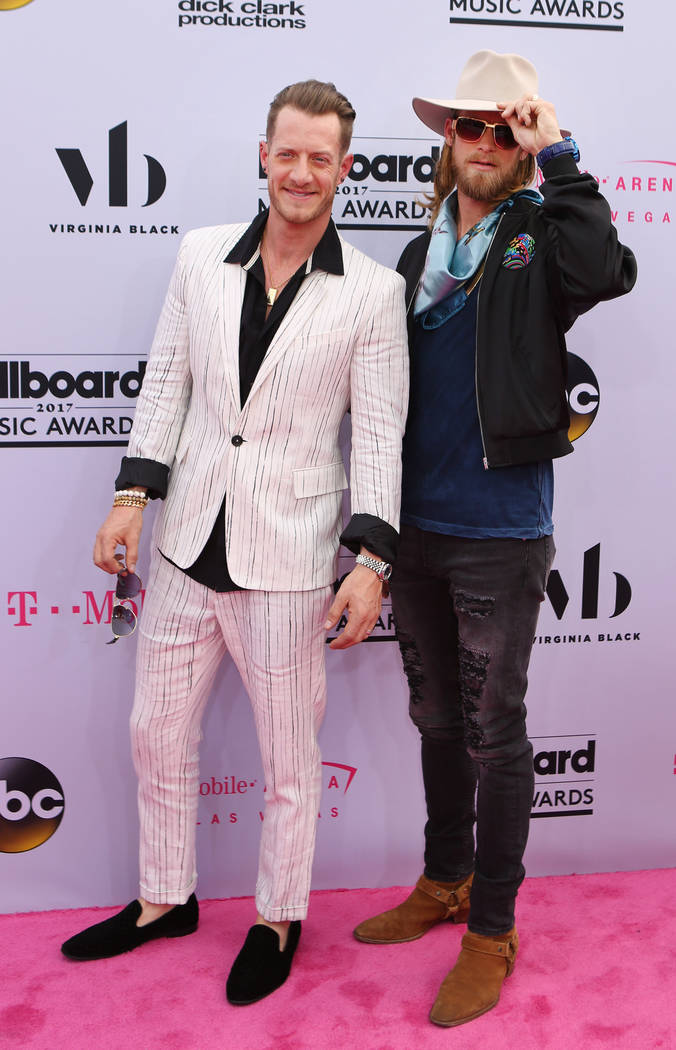 Tyler Hubbard and Brian Kelley of Florida Georgia Line  during the Billboard Music Awards at T-Mobile Arena in Las Vegas Sunday May, 21, 2017. Elizabeth Brumley Las Vegas Review-Journal @EliPagePhoto