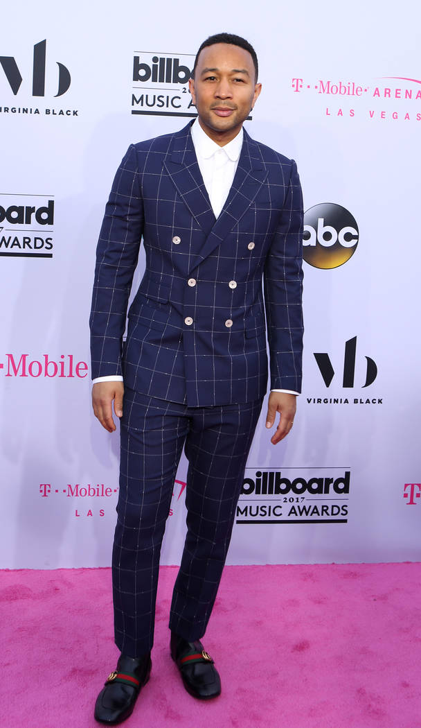 John Legend during the Billboard Music Awards at T-Mobile Arena in Las Vegas Sunday May, 21, 2017. Elizabeth Brumley Las Vegas Review-Journal @EliPagePhoto