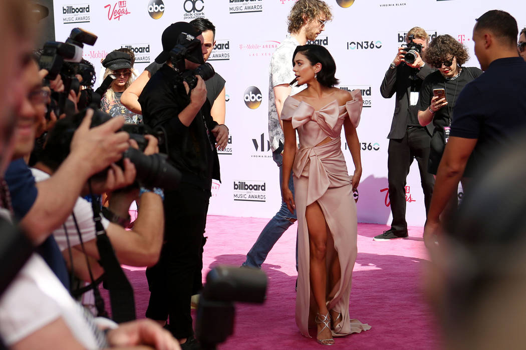 The 2017 Billboard Music Awards host Vanessa Hudgens at T-Mobile Arena in Las Vegas Sunday May, 21, 2017. Elizabeth Brumley Las Vegas Review-Journal @EliPagePhoto