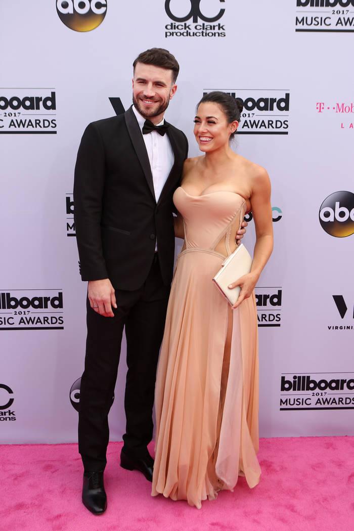 Sam Hunt & Hannah Lee Fowler during the Billboard Music Awards at T-Mobile Arena in Las Vegas Sunday May, 21, 2017. Elizabeth Brumley Las Vegas Review-Journal @EliPagePhoto