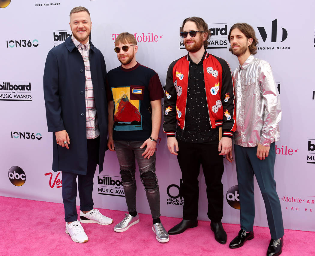 Imagine Dragons during the Billboard Music Awards at T-Mobile Arena in Las Vegas Sunday May, 21, 2017. Elizabeth Brumley Las Vegas Review-Journal @EliPagePhoto