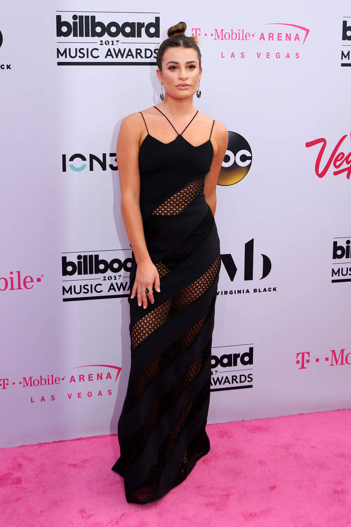 Lea Michele during the Billboard Music Awards at T-Mobile Arena in Las Vegas Sunday May, 21, 2017. Elizabeth Brumley Las Vegas Review-Journal @EliPagePhoto