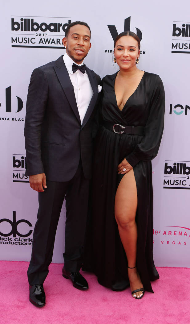 The 2017 Billboard Music Awards host Ludacris, left and Eudoxie Mbouguiengue at the T-Mobile Arena in Las Vegas Sunday May, 21, 2017. Elizabeth Brumley Las Vegas Review-Journal @EliPagePhoto