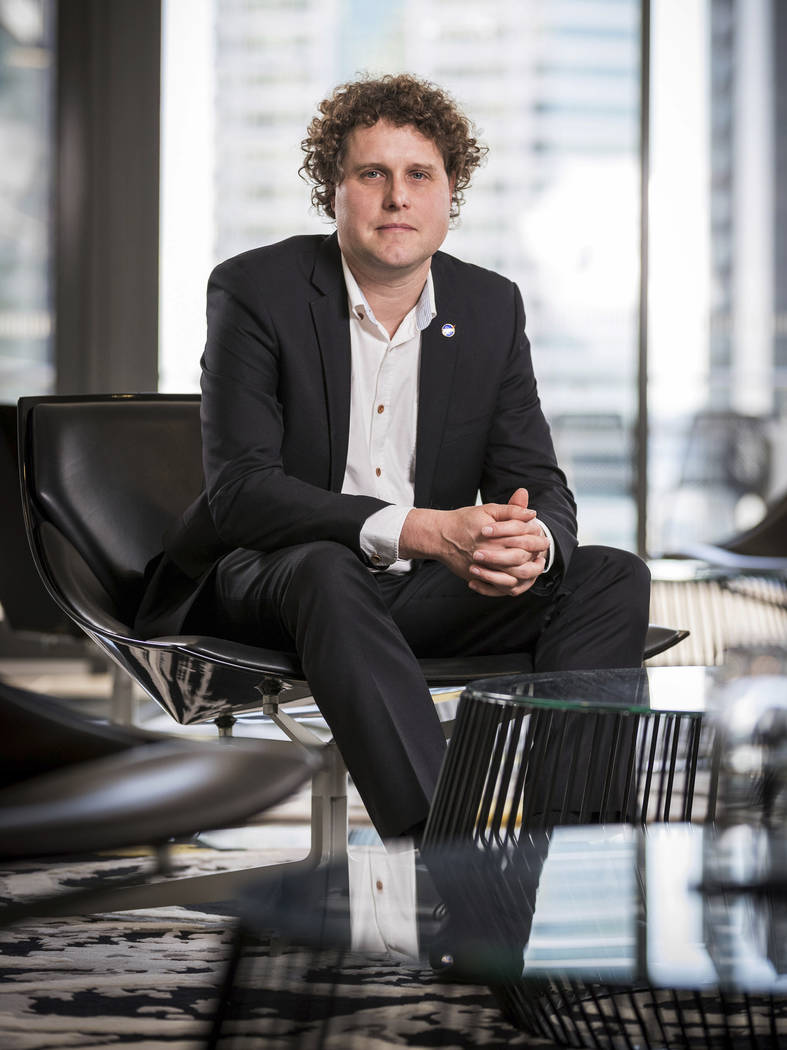 In this Aug.16, 2016 photo supplied by Rocket Lab, Peter Beck poses for a portrait in Auckland, New Zealand. New Zealand has never had a space program but could soon be launching commercial rocket ...