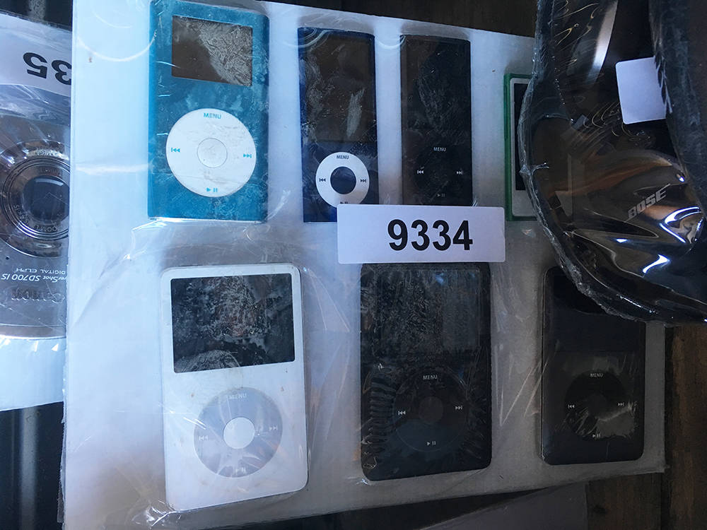 iPods and a camera were among the items up for bid as part of the McCarran International Airport lost-and-found auction. (Brian Sandford/View) @nweditor