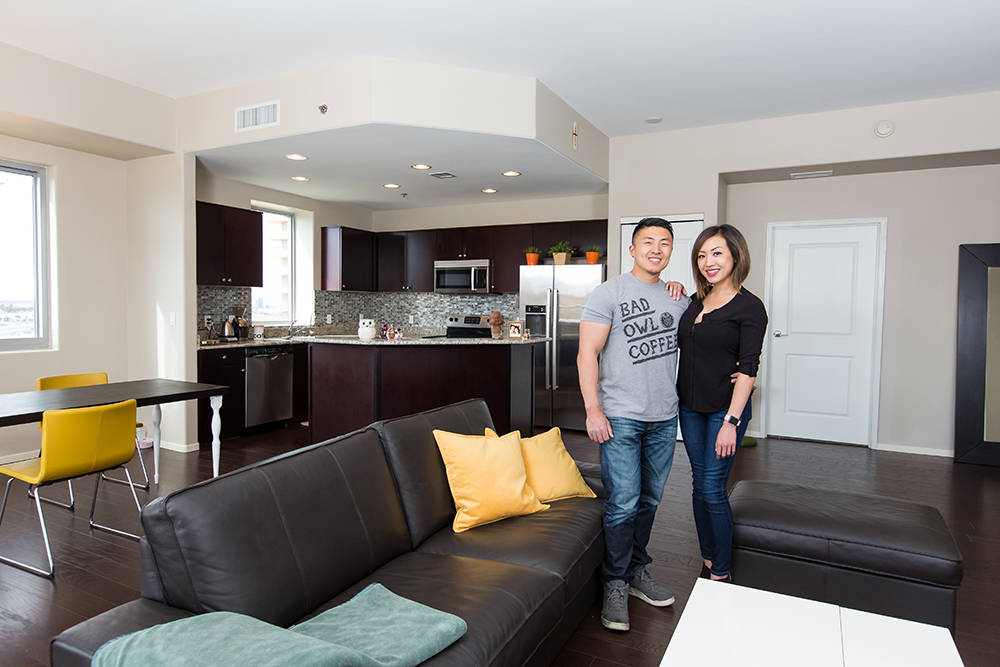 Annie Cheng and Yuzo Kono purchased their two-bedroom residence at One Las Vegas for its amenities, spacious floor plans, value and convenient location. (One Las Vegas-Mona Shield Payne)