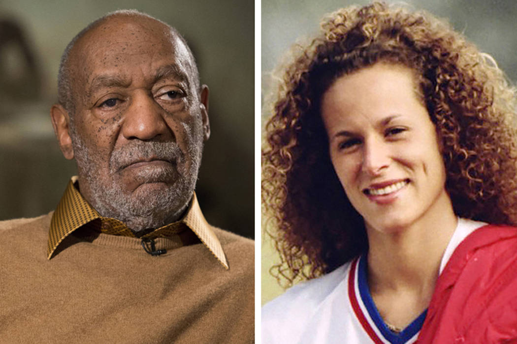 Entertainer Bill Cosby, left, in Washington on Nov. 6, 2014, and Andrea Constand in Toronto on Aug. 1, 1987. Cosby's sex assault trial starts Monday, May 22, 2017, when lawyers gather in Pittsburg ...