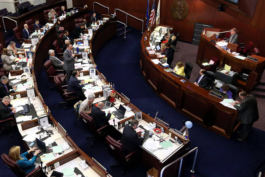 Nevada Legislature (Cathleen Allison/Las Vegas Review-Journal)