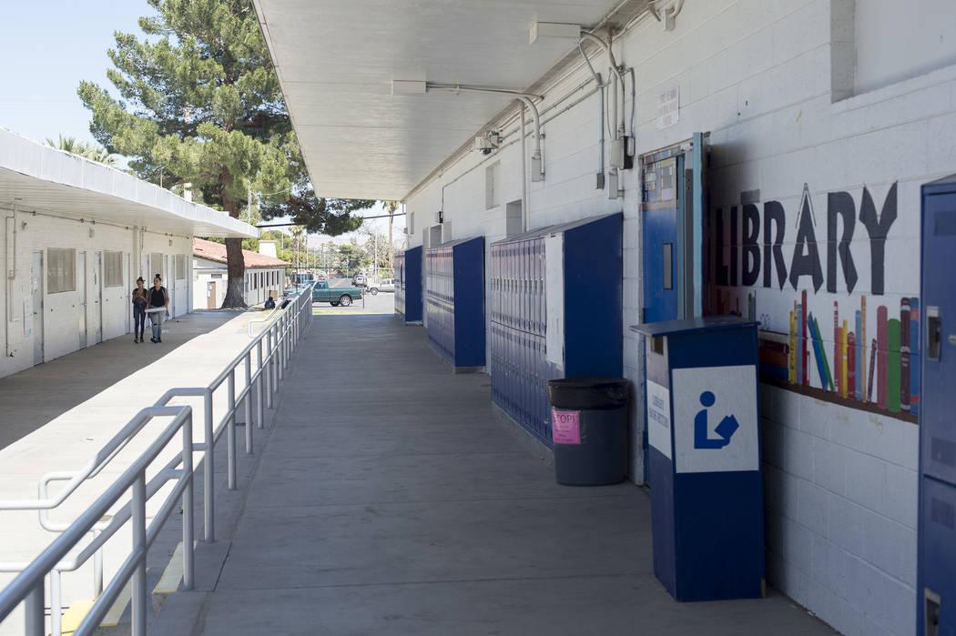 John C. Fremont Middle School campus on Tuesday, May 23, 2017, in Las Vegas.  Bridget Bennett Las Vegas Review-Journal @bridgetkbennett