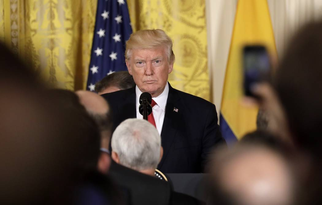 President Donald Trump arrives for a joint news conference with Colombia's President Juan Manuel Santos (not pictured) at the White House in Washington, U.S. May 18, 2017. (Kevin Lamarque/Reuters)
