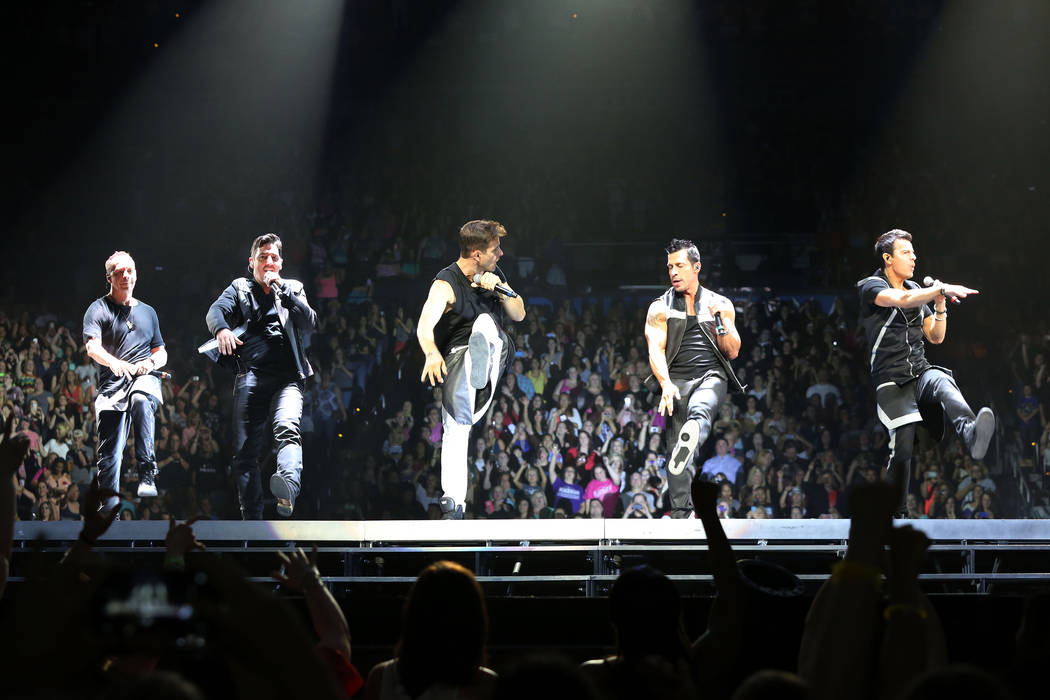 The original lineup of Donnie Wahlberg, Jonathan Knight, Joey McIntyre, Danny Wood and Jordan Knight.with New Kids on the Block (NKOTB) perform at Philips Arena on the Main Event tour on Saturday, ...