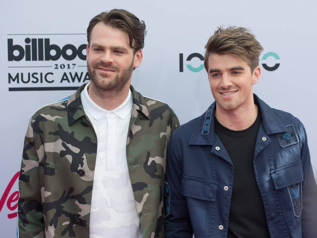 The Chainsmokers arrive at The 2017 Billboard Music Awards at T-Mobile Arena on Sunday, May 21, 2017, in Las Vegas. (Tom Donoghue)