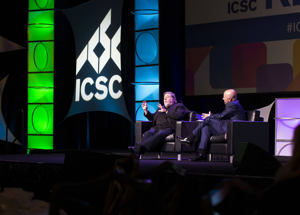 Apple co-founder Steve Wozniak speaks at the RECon show at the Westgate on Monday, May 22, 2017. (Todd Prince/Las Vegas Review-Journal) @ToddPrinceTV