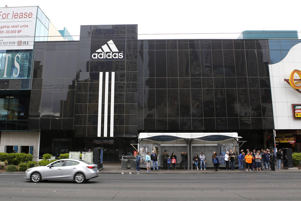 The Adidas store on the Strip, Friday, March 31, 2017, in Las Vegas. (Christian K. Lee/Las Vegas Review-Journal) @chrisklee_jpeg