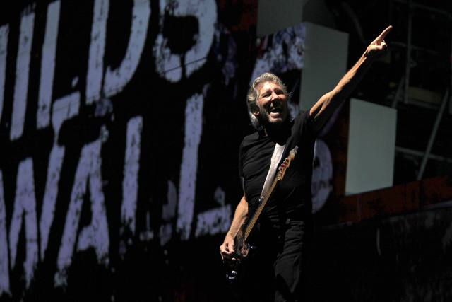 "Pink Floyd co-founder and bass guitarist Roger Waters performs during ""The Wall Tour"" stop Wednesday, Aug. 28, 2013, in Bucharest, Romania. (Radu Sigheti/Reuters)"