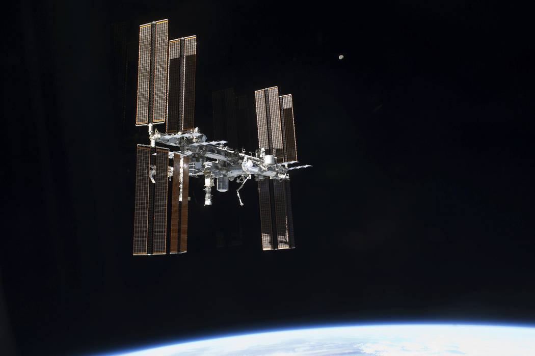 This July 19, 2011 photo of the International Space Station was taken from the space shuttle Atlantis after it left the orbiting complex. NASA ordered up urgent spacewalking repairs at the In ...