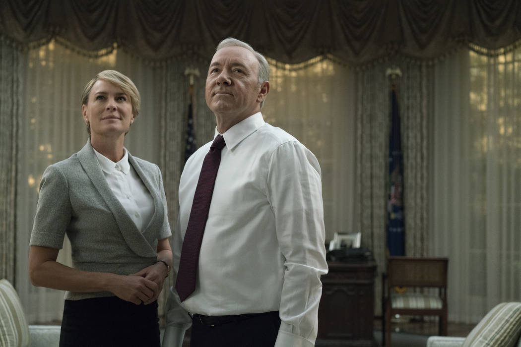 "Robin Wright and Kevin Spacey in ""House of Cards."" David Giesbrecht Netflix"