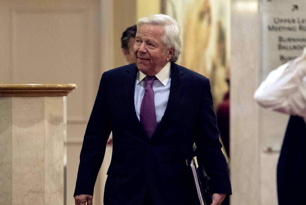 New England Patriots owner Robert Kraft arrives at the NFL owners meeting at the JW Marriott in Chicago, Ill., on Tuesday, May 23, 2017. Heidi Fang/Las Vegas Review-Journal @HeidiFang
